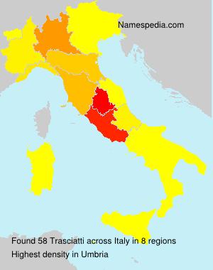 Surname Trasciatti in Italy
