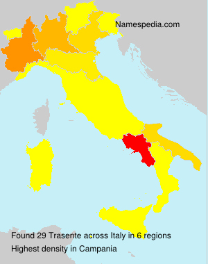 Surname Trasente in Italy