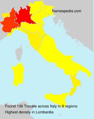 Surname Trecate in Italy