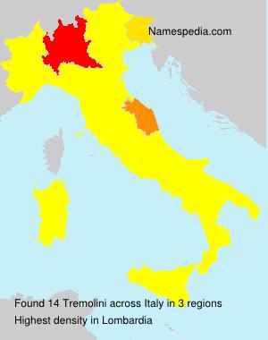 Surname Tremolini in Italy