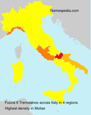 Surname Trentalance in Italy