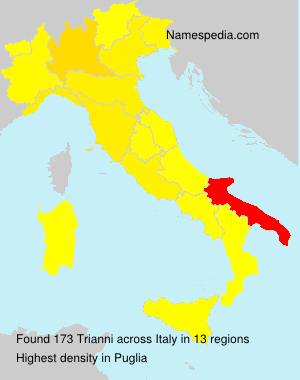 Surname Trianni in Italy