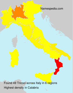 Surname Tricoci in Italy