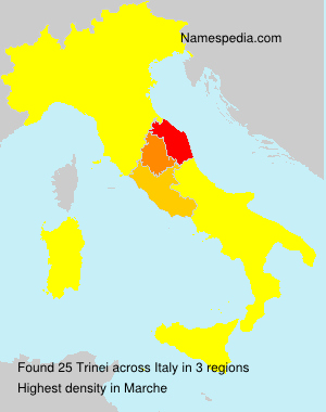 Familiennamen Trinei - Italy