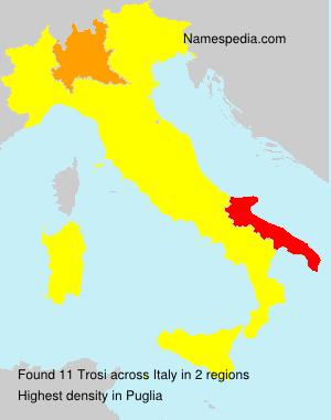 Surname Trosi in Italy