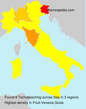Surname Tschabuschnig in Italy