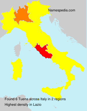 Surname Tuena in Italy