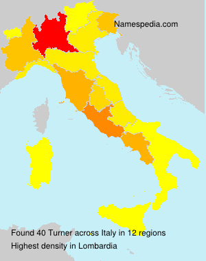 Surname Turner in Italy