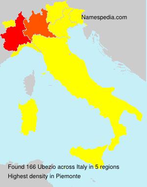 Surname Ubezio in Italy