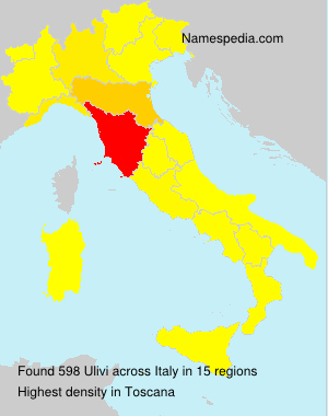 Surname Ulivi in Italy