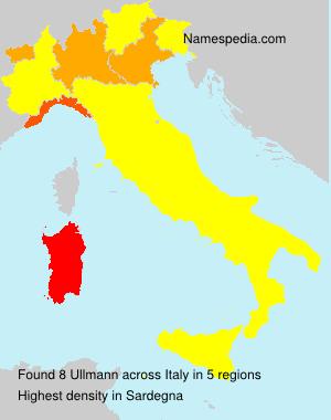 Familiennamen Ullmann - Italy