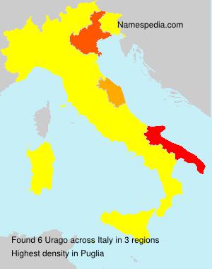 Surname Urago in Italy