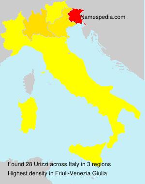 Familiennamen Urizzi - Italy