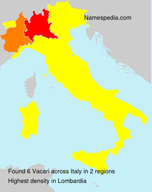 Surname Vacari in Italy