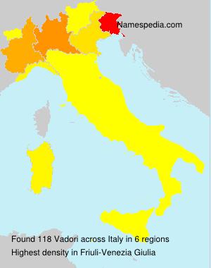 Surname Vadori in Italy