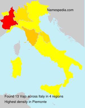 Familiennamen Vajo - Italy