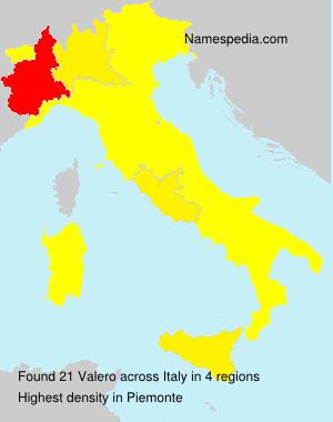 Familiennamen Valero - Italy