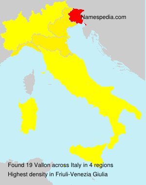 Surname Vallon in Italy