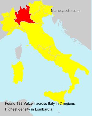 Surname Valzelli in Italy