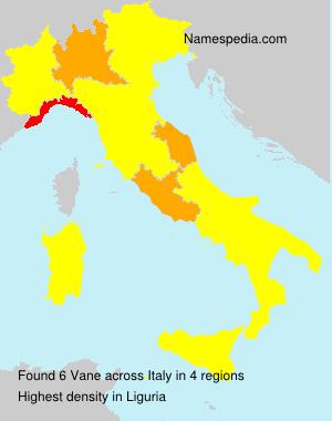 Surname Vane in Italy