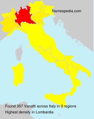 Surname Vanotti in Italy