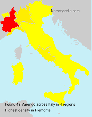 Surname Varengo in Italy