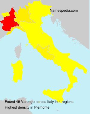 Surname Varengo in Italy