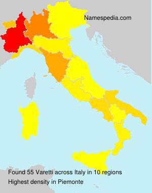 Surname Varetti in Italy