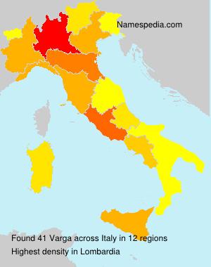 Surname Varga in Italy