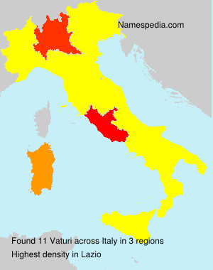Familiennamen Vaturi - Italy