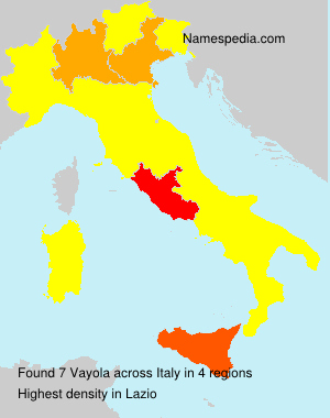 Surname Vayola in Italy