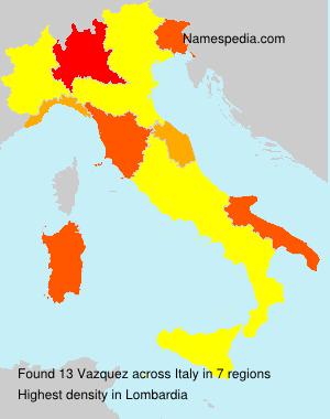 Familiennamen Vazquez - Italy