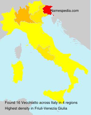 Surname Vecchiatto in Italy
