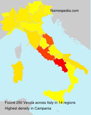 Surname Veccia in Italy