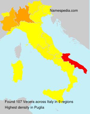 Surname Vecera in Italy