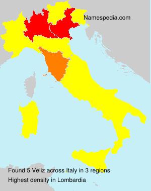 Surname Veliz in Italy