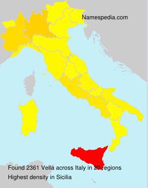 Surname Vella in Italy