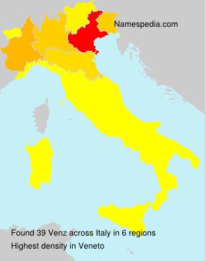 Surname Venz in Italy