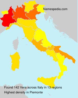 Surname Vera in Italy