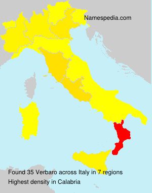 Surname Verbaro in Italy