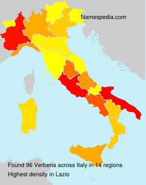 Surname Verbena in Italy