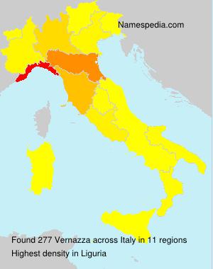 Surname Vernazza in Italy