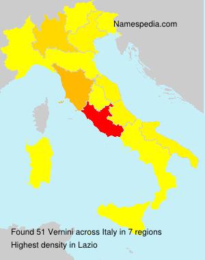 Surname Vernini in Italy