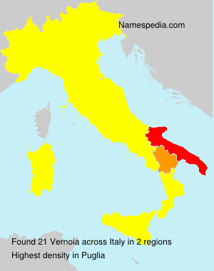 Surname Vernoia in Italy