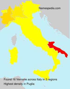 Surname Vernone in Italy