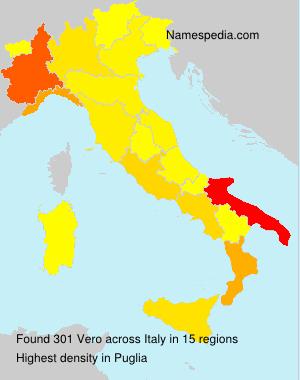 Surname Vero in Italy