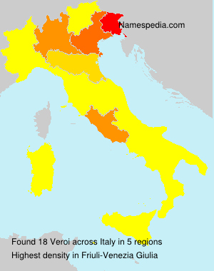 Surname Veroi in Italy