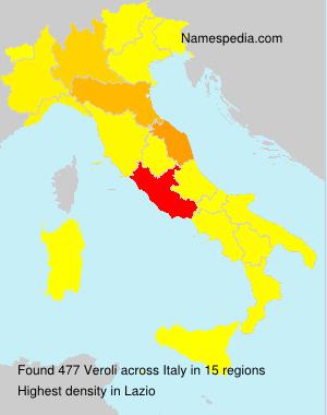 Surname Veroli in Italy