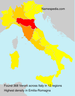 Surname Veroni in Italy