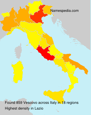 Surname Vescovo in Italy